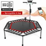 Sportstech Smart Fitness Trampolin mit APP & Pulsgurt
