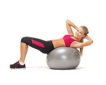 Gymnastikball Silber 65cm